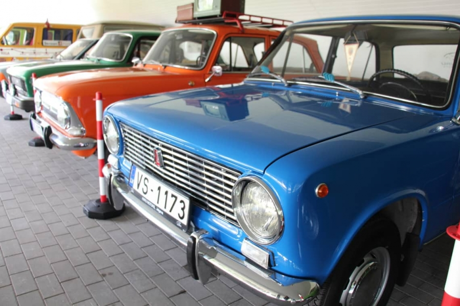 The Collection of Soviet Union Cars in 'AnRu Motors' Car Service Centre